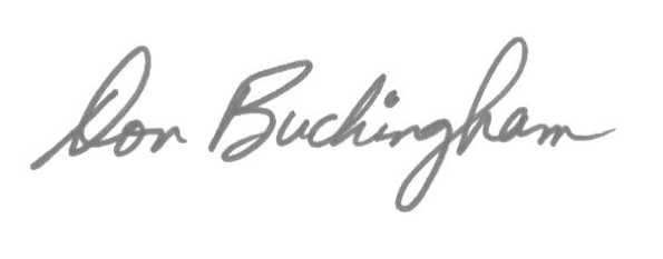 Don Buckingham signature